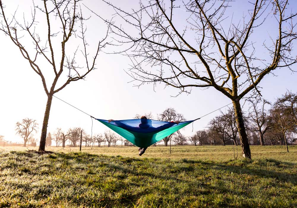 How much space do I need to hang my outdoor hammock from the tree?